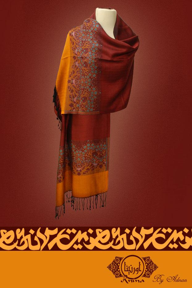 Ornina Handmade birds scarf