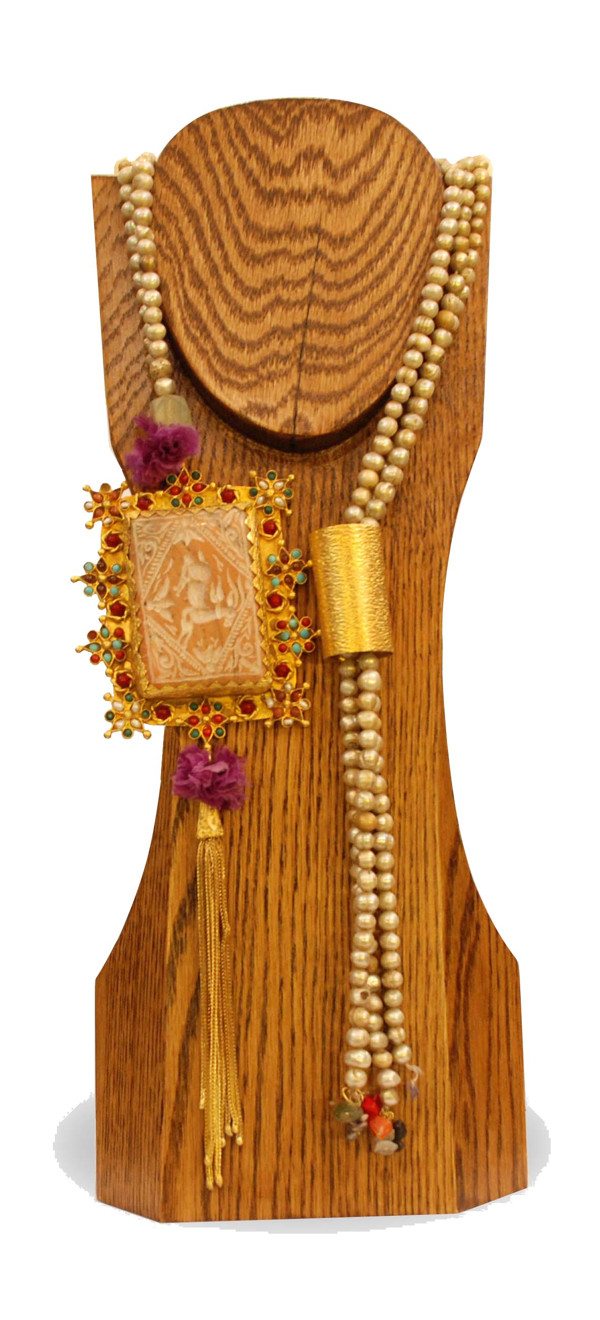 ornina handmade obizn5 pearls neck-tie