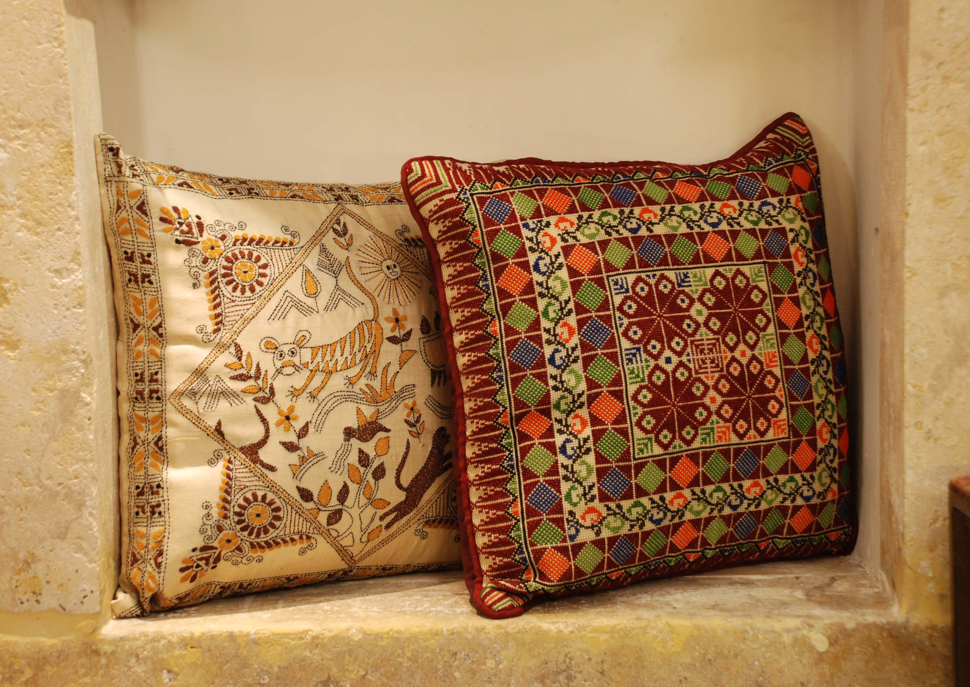 ornina handmade ocu2 embroidered cushion