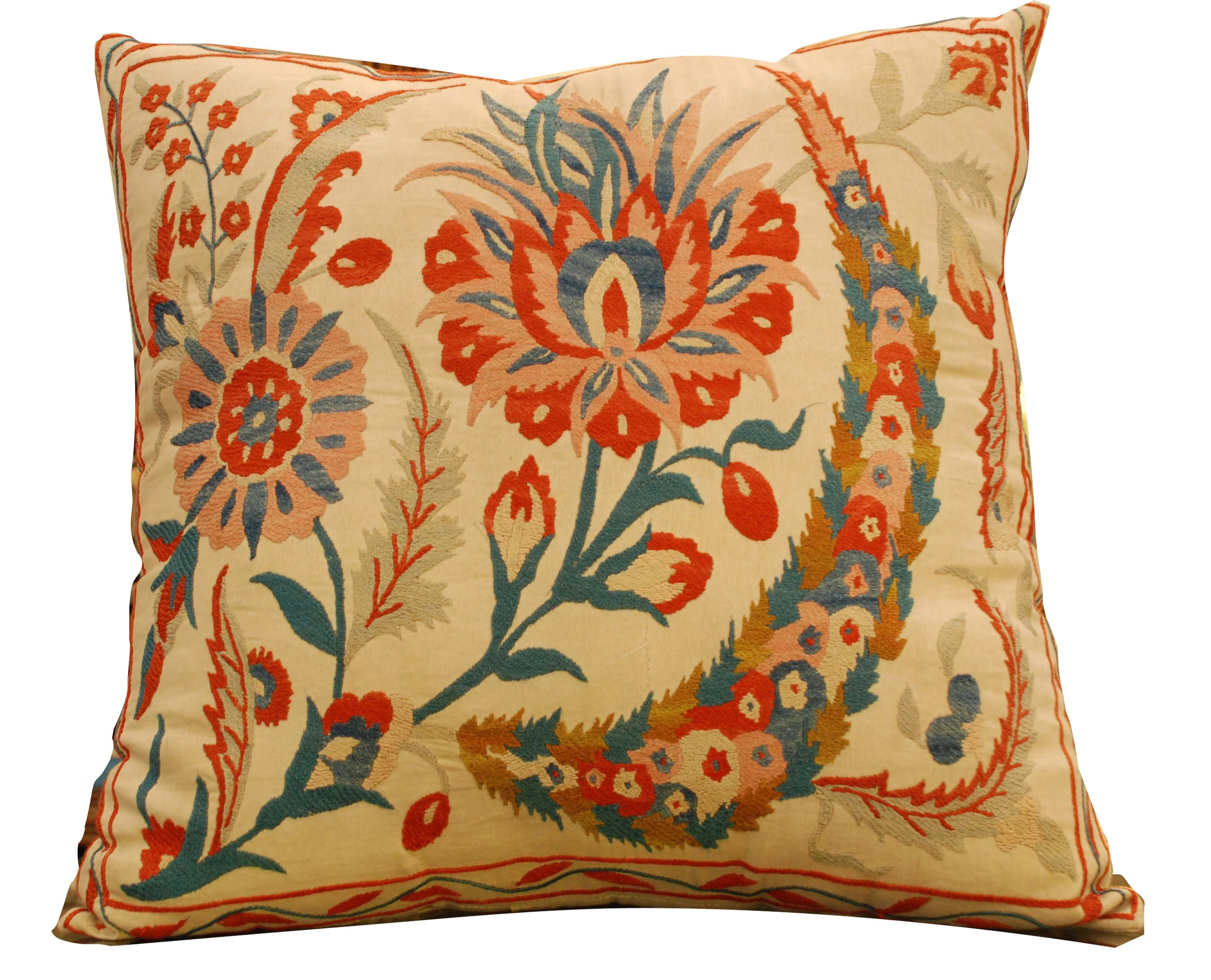 ornina handmade ocu9 embroidered cushion