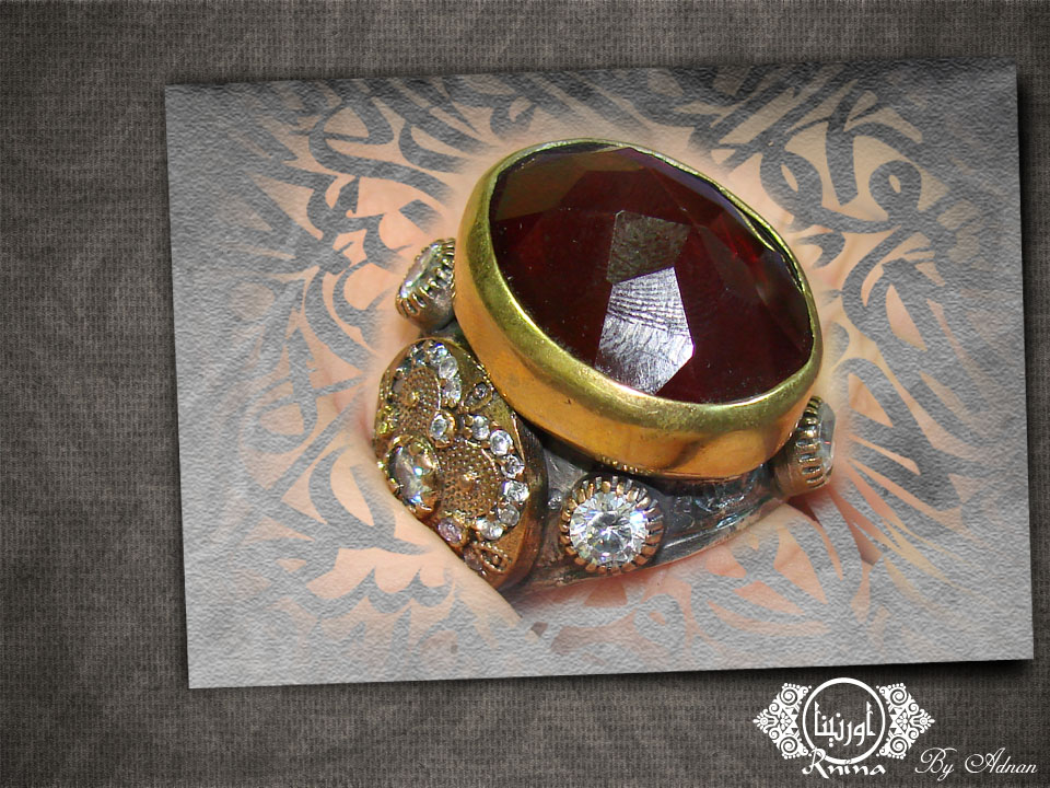 ornina handmade orr12 encrusted ruby
