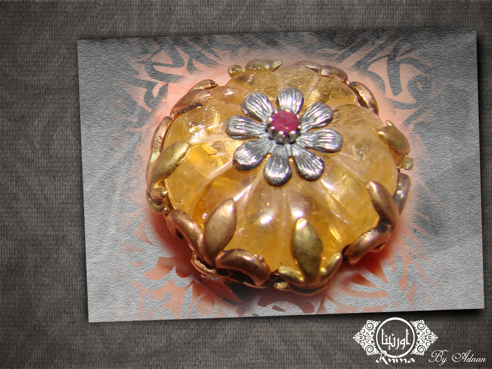 ornina handmade orr3 citrine stone