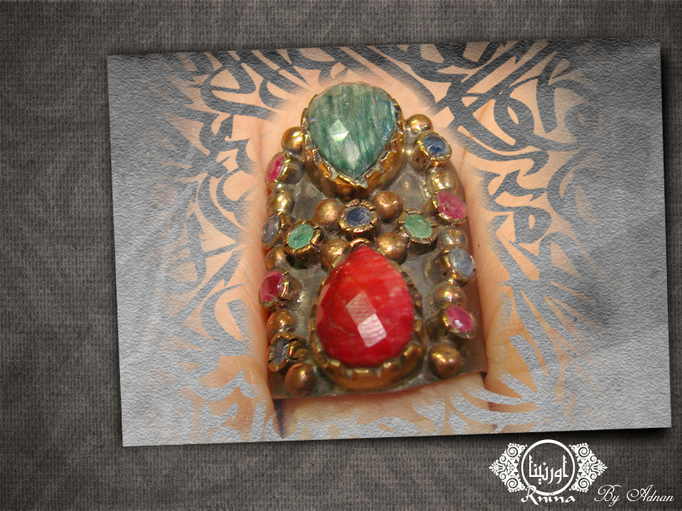 ornina handmade orr48 ruby and emerald